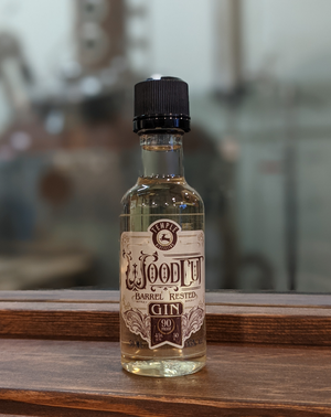Woodcut Barrel Rested Gin - 50ml short story