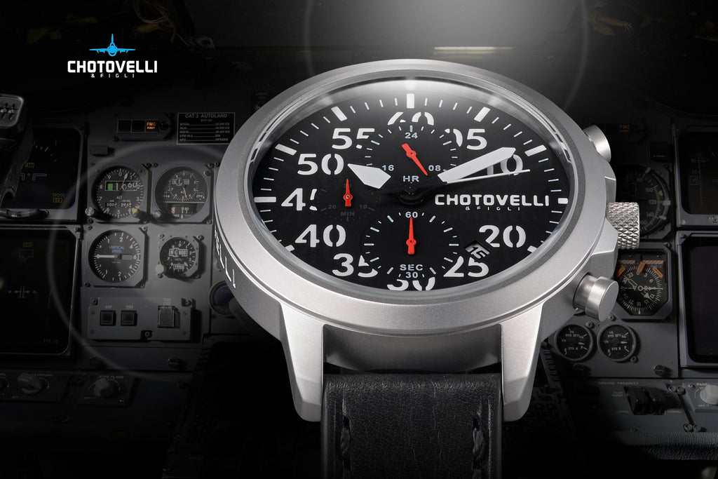 Chotovelli Aviator watch