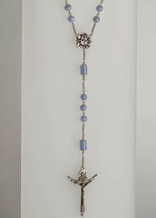 Devout Trinity: Sterling Silver with Blue Lace Agate