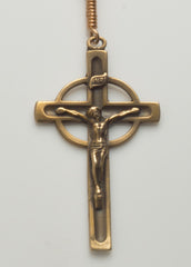 NeoCeltic Cross: Bronze with Carnelian