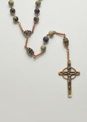 NeoCeltic Cross: Bronze with Connemara Marble
