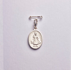 Guardian Angel Medal and Pin: Sterling Silver