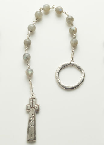 Penal Rosary: Sterling Silver with Labradorite