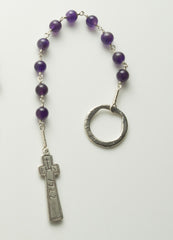 Penal Rosary: Sterling Silver with Amethyst