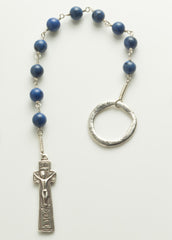 Penal Rosary: Sterling Silver with Dumortierite
