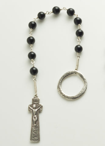 Penal Rosary: Sterling Silver with Black Onyx