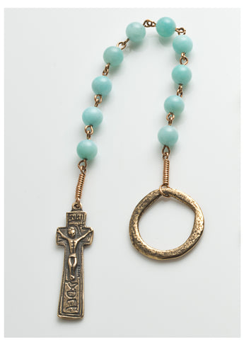 Penal Rosary: Bronze with Amazonite