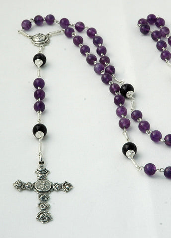 Devout Therese: Sterling Silver with Amethyst
