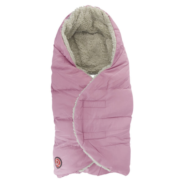 Blue Banana Burrito - Wrap Blanket for Car Seat - Light Pink