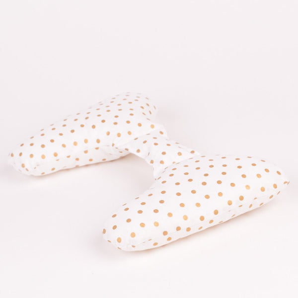 Ellie Ears - Positional Support Pillow - Gold Dots
