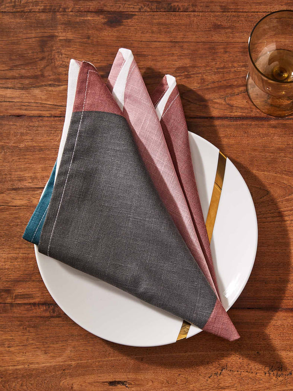 White Circle Napkin Set