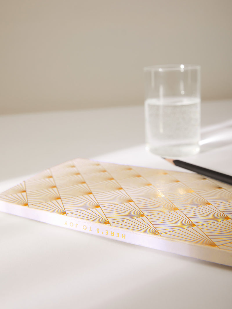 White Sun Burst Optimist Notebook