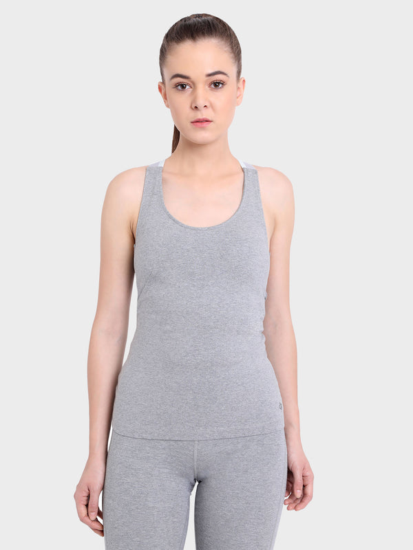 Ahimsa Fitted Cami Heather Grey By Satva