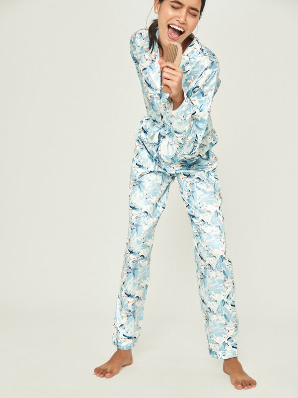 Aqua Printed Sleep Pyjamas