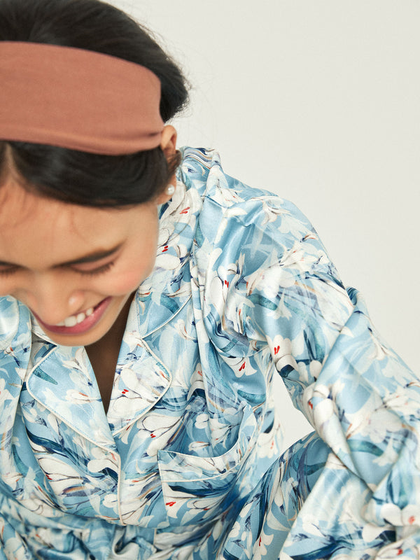 Aqua Printed Sleep Shirt