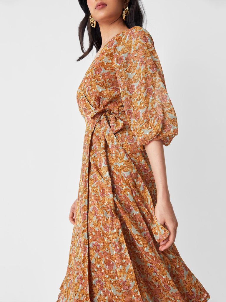 Autumn Wrap Dress