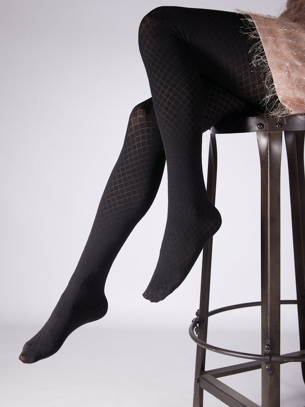 Black Checked Stockings