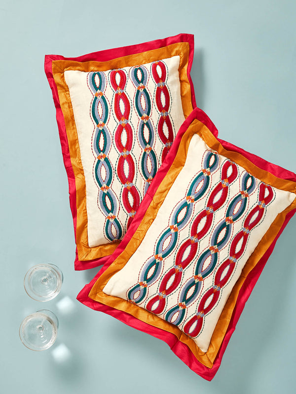 Cotton Lined Suzani Embroidered Cushion