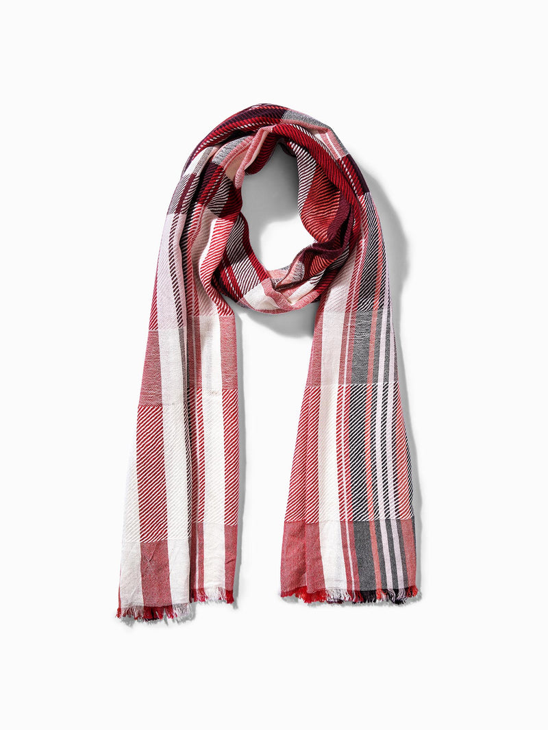 Crimson Stripe Scarf