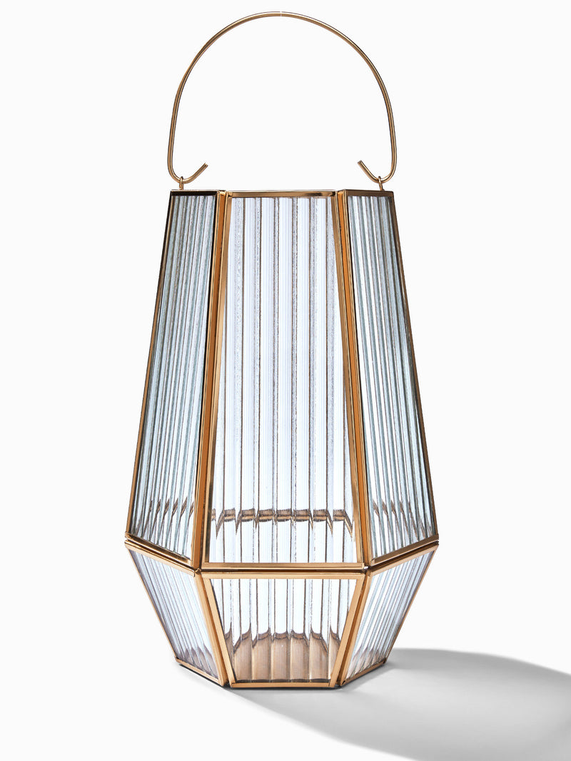 Cylindrical Ribbed Lantern