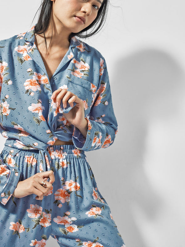 Floral Printed Sleep Pyjamas