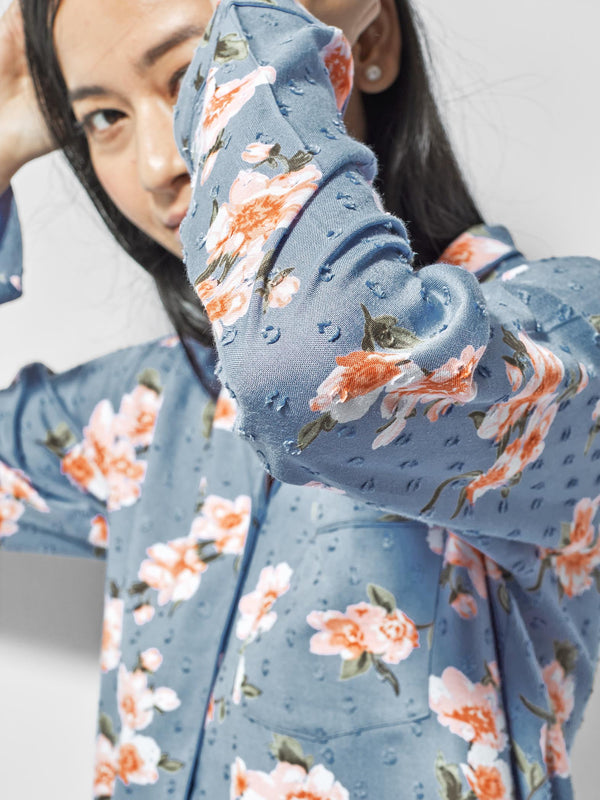 Floral Printed Sleep Shirt