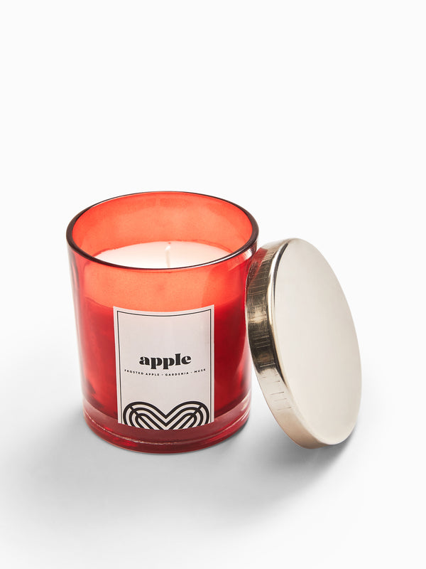 Glass Apple Candle