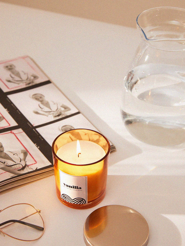 Glass Vanilla Candle
