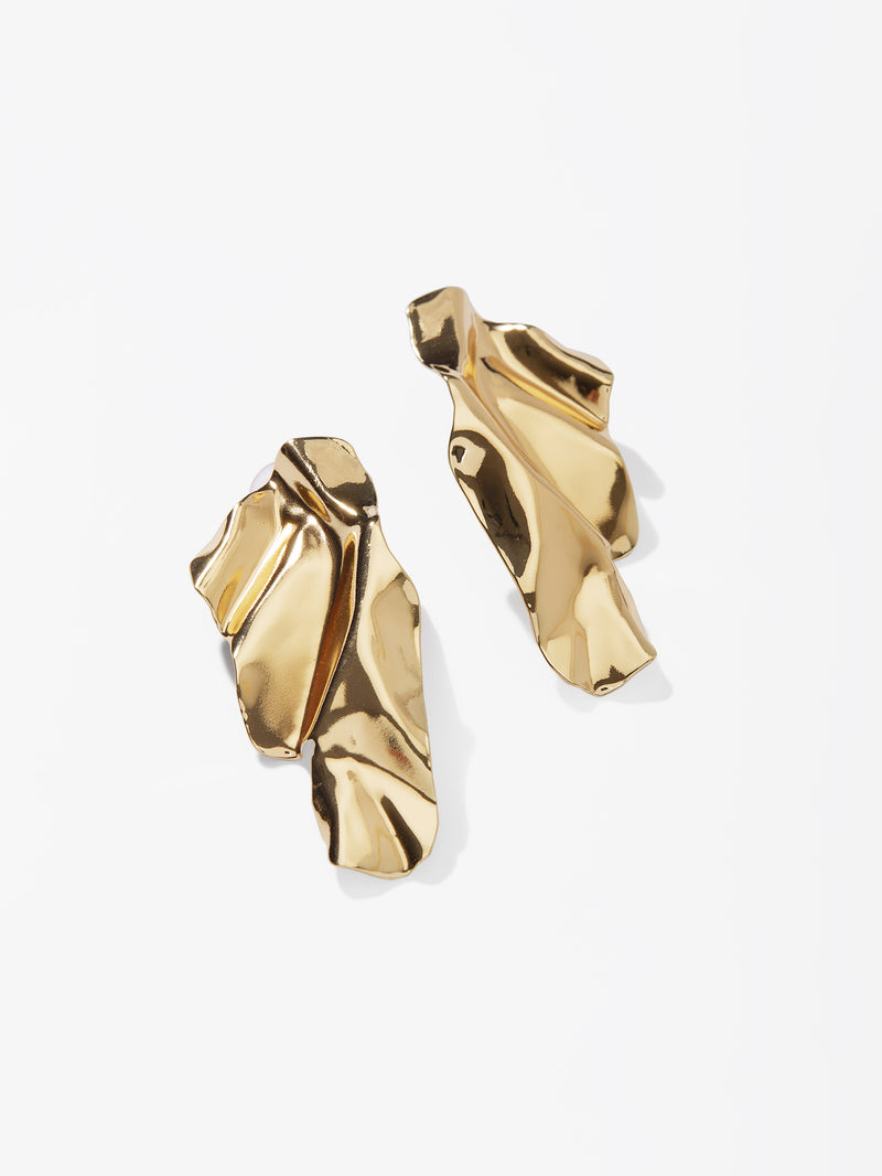 Gold Abstract Earrings