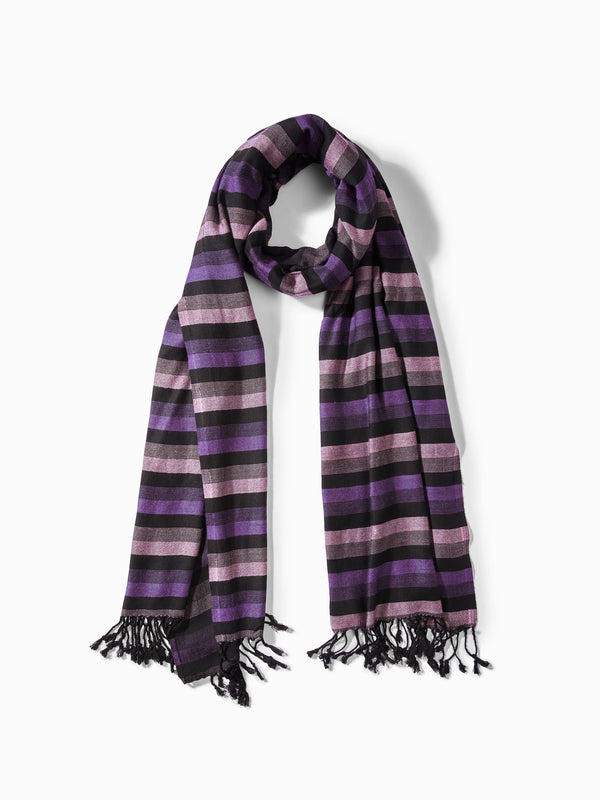 Grape Stripe Scarf