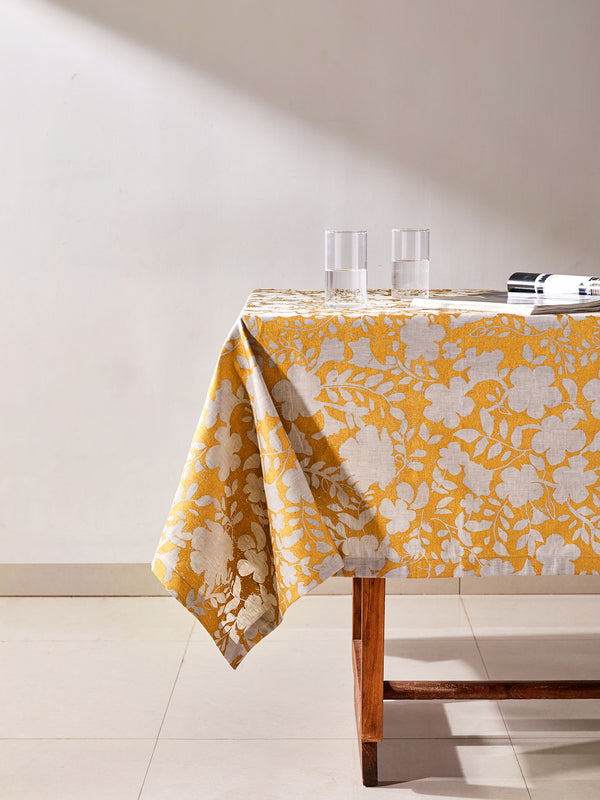 Grey & Gold Table Cloth Large