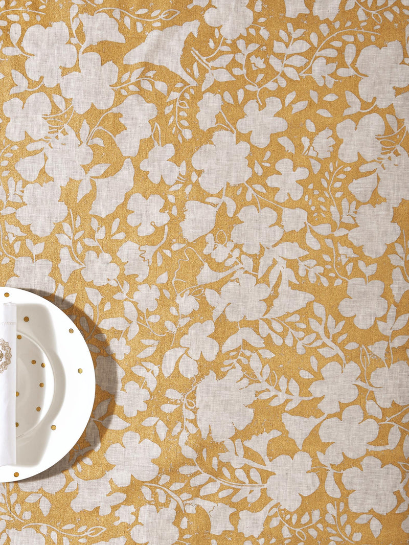 Grey & Gold Table Cloth Small