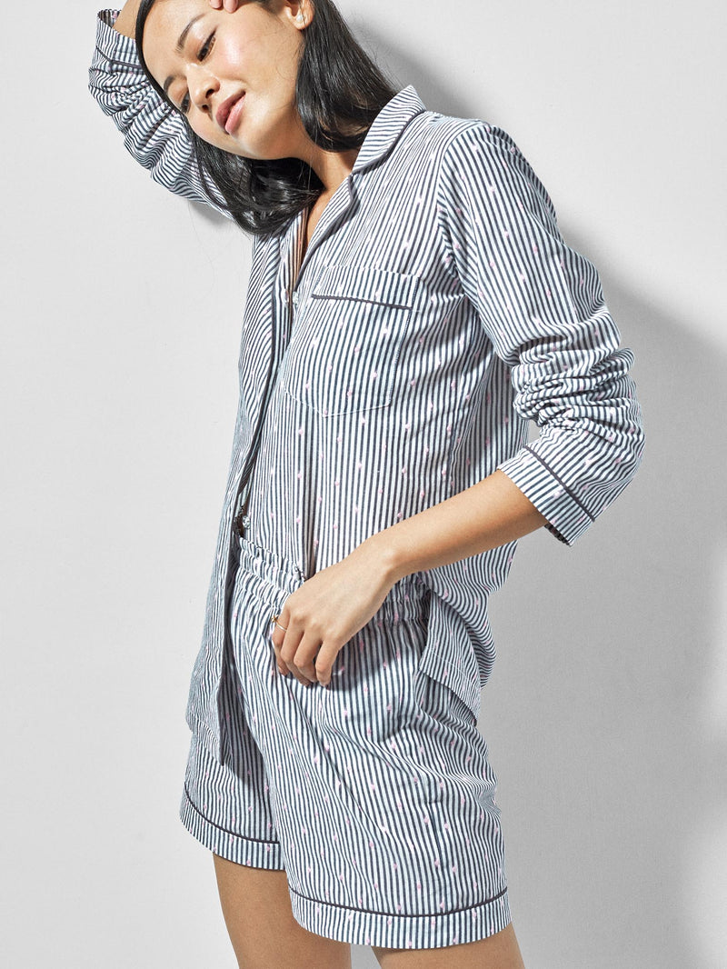 Grey & White Polka Sleep Shirt