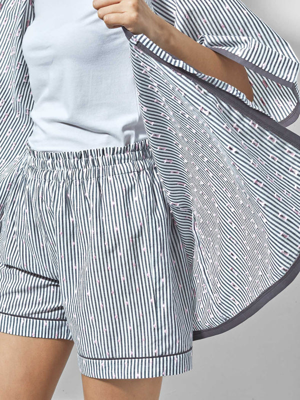 Grey & White Polka Sleep Shorts