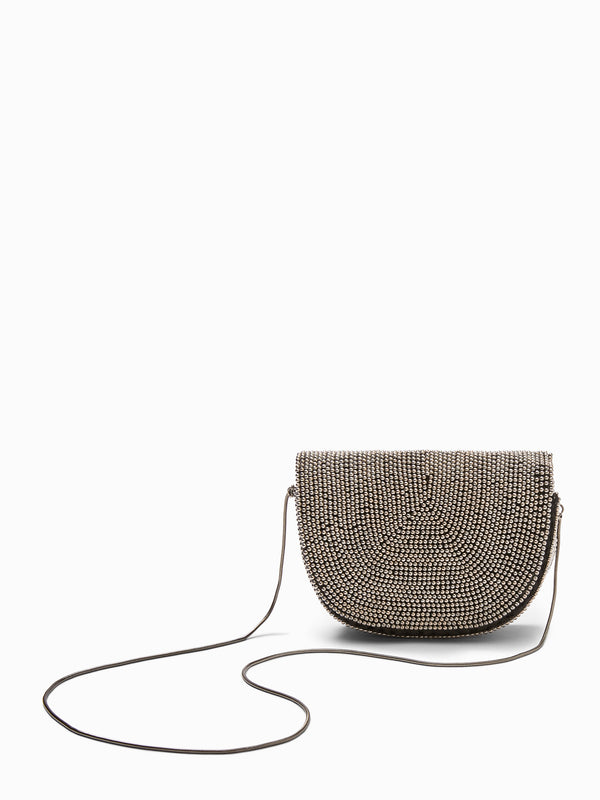Gunmetal Beaded Sling Bag