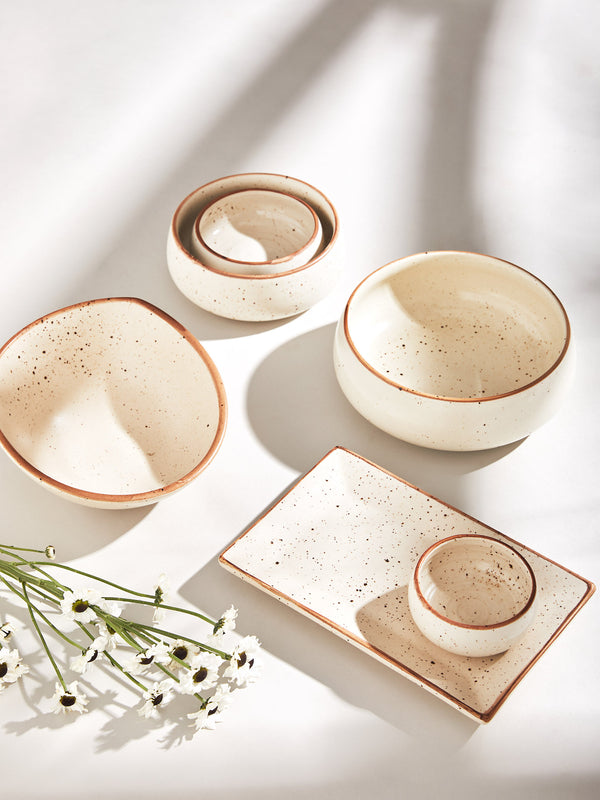 Ivory Dotted Bowl Regular