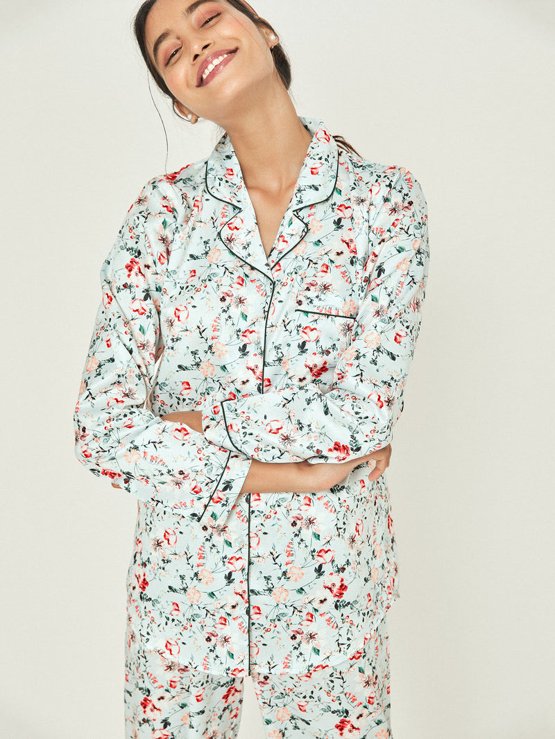 Ice Floral Sleep Shirt