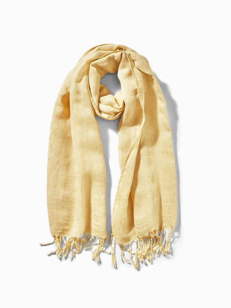 Lemon Linen Scarf