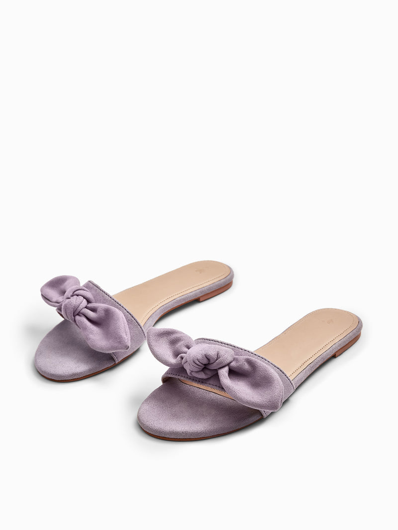 Lilac Bow Sliders