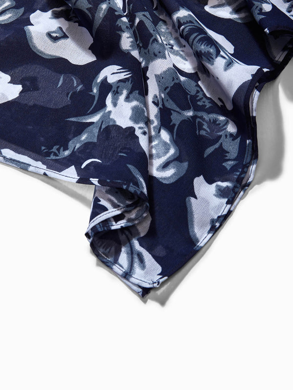Midnight Floral Print Scarf
