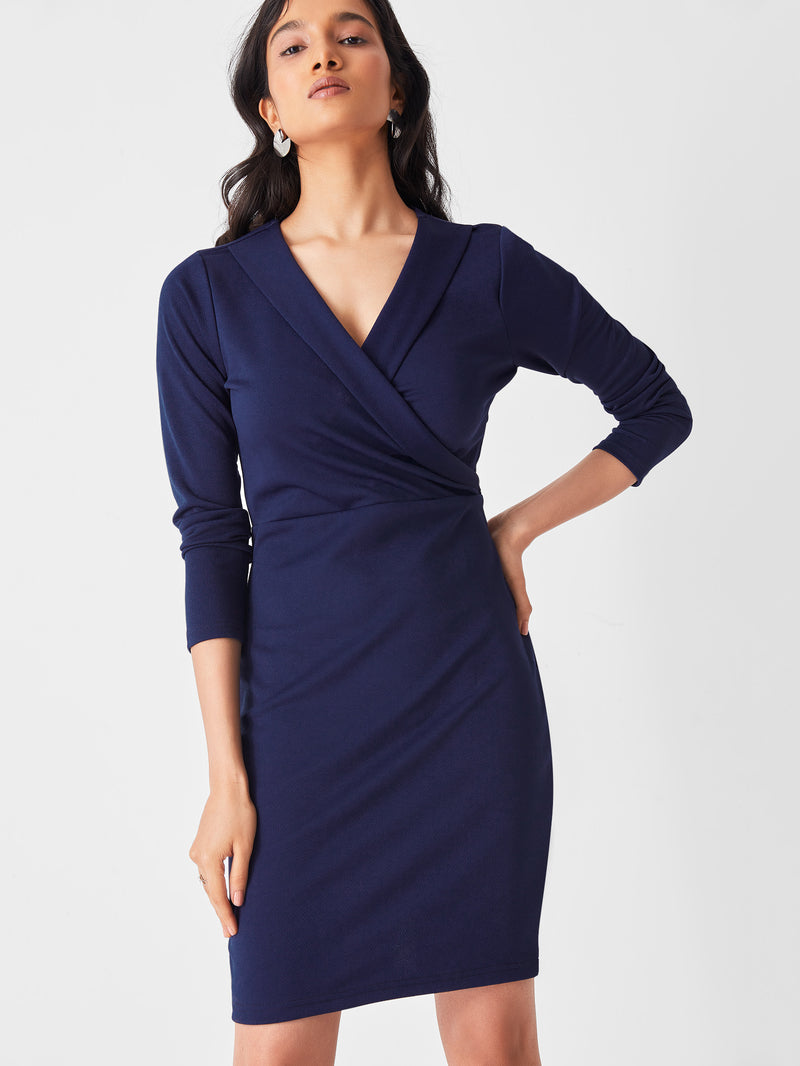 Midnight Shawl Collar Dress