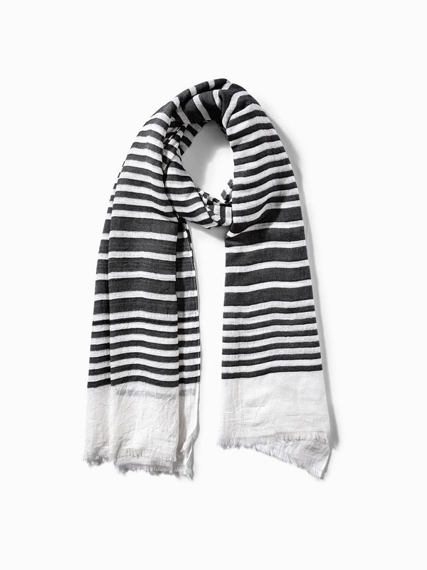 Monochrome Lined Scarf