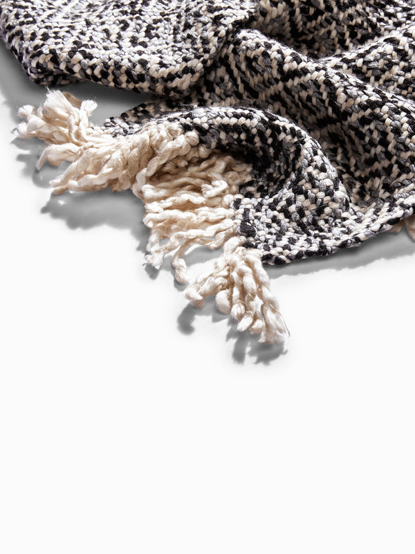 Monochrome Patterened Scarf