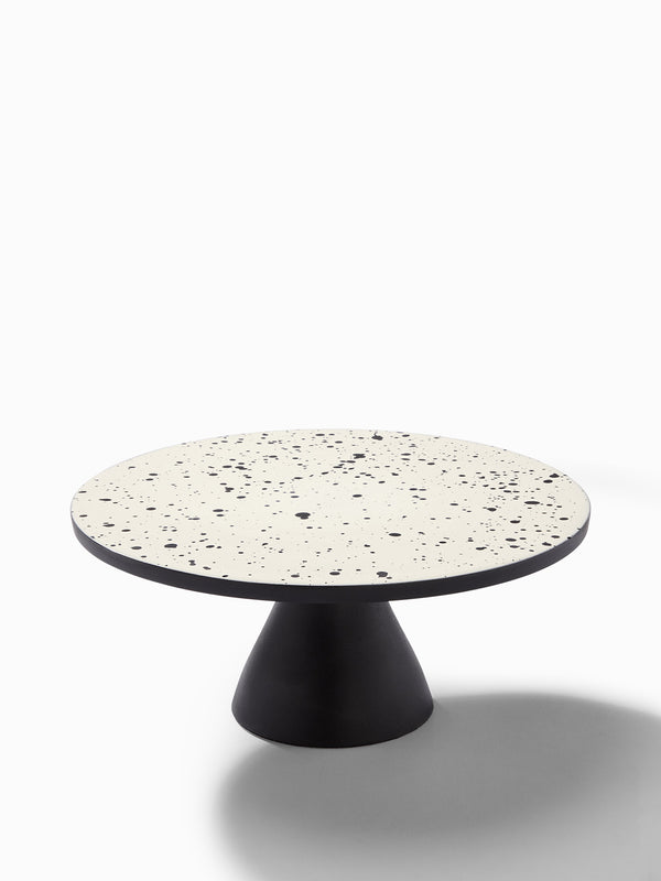 Monochrome Speckled Cake Stand Large