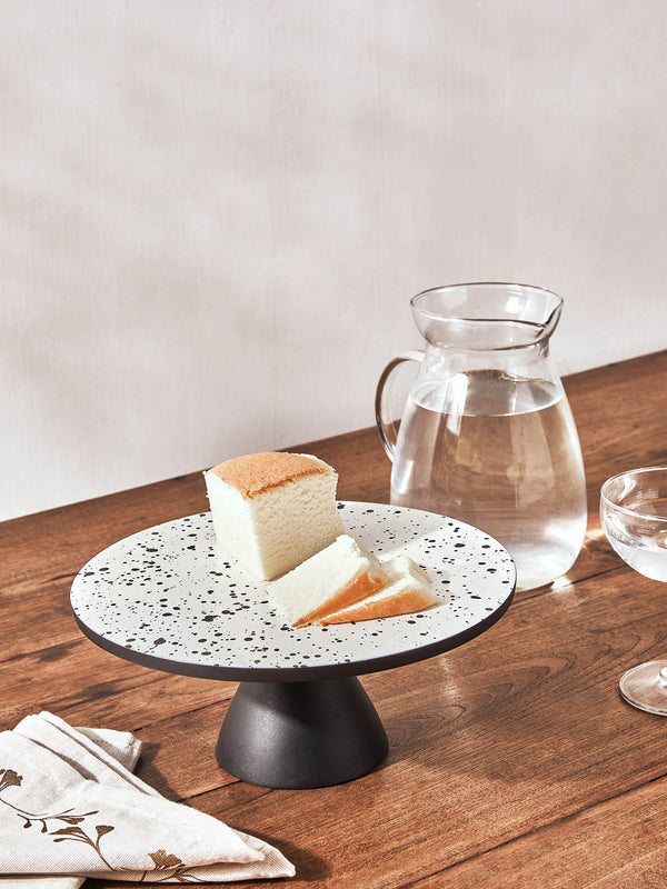 Monochrome Speckled Cake Stand Small