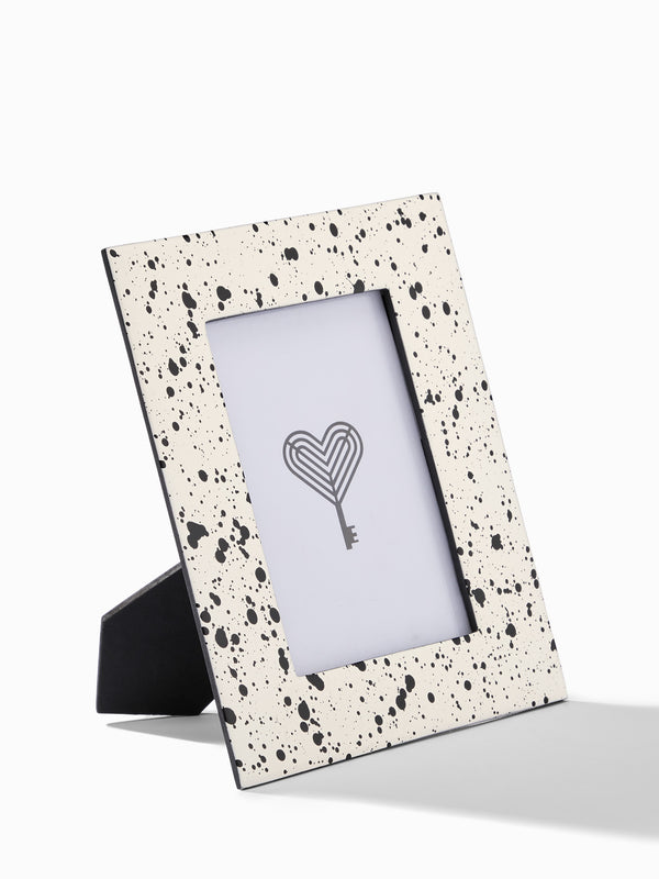 Monochrome Speckled Photo Frame Small