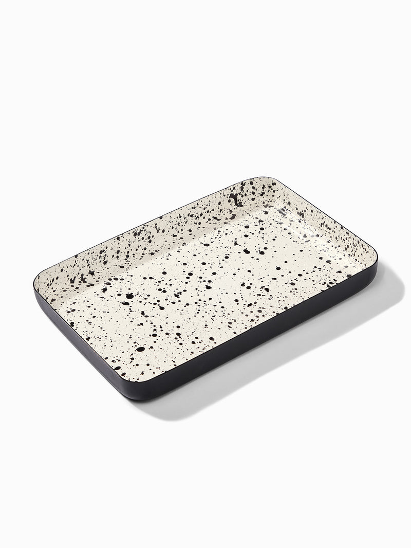 Monochrome Speckled Tray Small