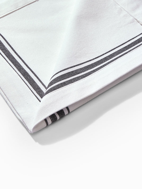 Monochrome Stripe Napkin Set