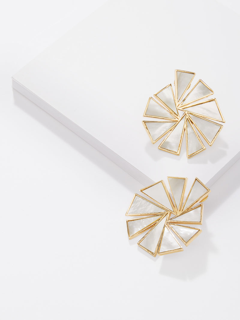 Mother of Pearl Geo Earrings