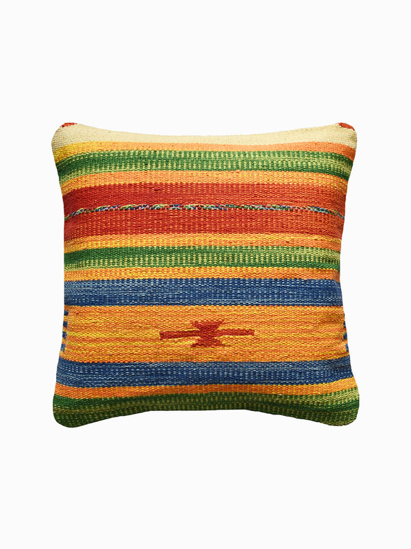 Mustard & Navy Kilim Cushion Cover